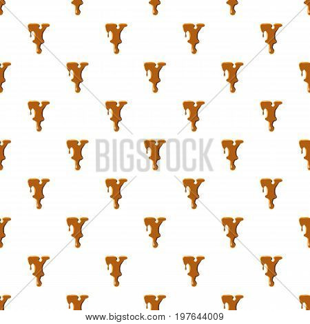 Letter Y from caramel pattern seamless repeat in cartoon style vector illustration