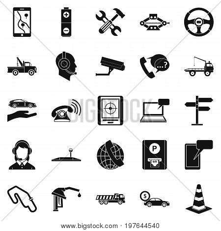 Employ icons set. Simple set of 25 employ vector icons for web isolated on white background