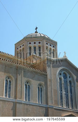 View of the Metropolitan Cathedral of Athens.