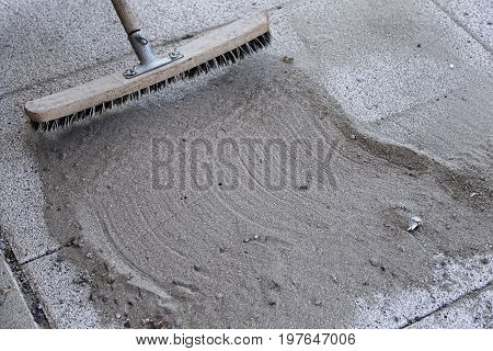 Install Polymeric Sand By Brooming 3