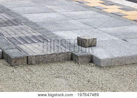 Installing Pedestrian Path With Paver Bricks
