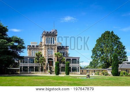 Larnach Castle on a sunny day Dunedin New Zealand