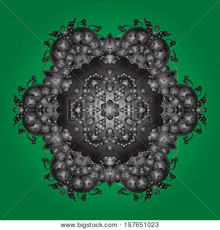 Illustration. Falling Christmas stylized snowflakes. Snowflakes snowfall. Beautiful vector snowflakes on a colorful background.