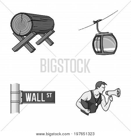 forestry, finance and other  icon in cartoon style.travel, fitness icons in set collection.