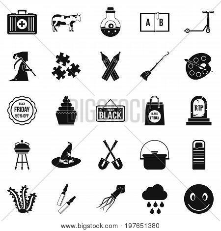 Autumn holidays icons set. Simple set of 25 autumn holidays vector icons for web isolated on white background