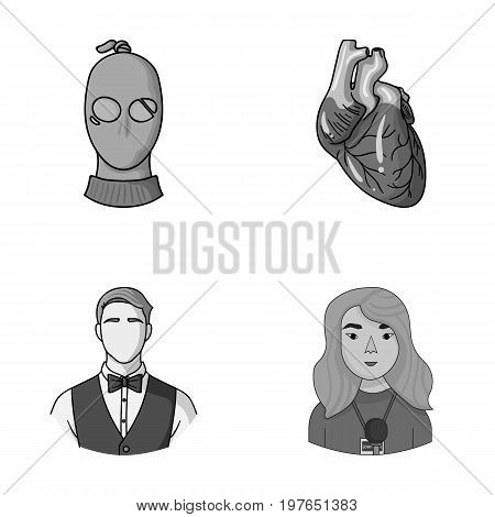 crime, service and other  icon in cartoon style.medicine, press icons in set collection.