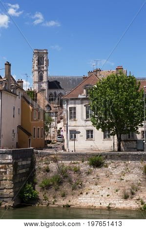 Chalon sur Saône and Cathedral, near Macon, France