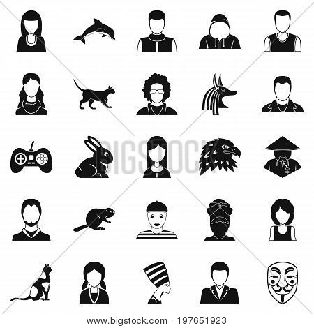 Demos icons set. Simple set of 25 demos vector icons for web isolated on white background