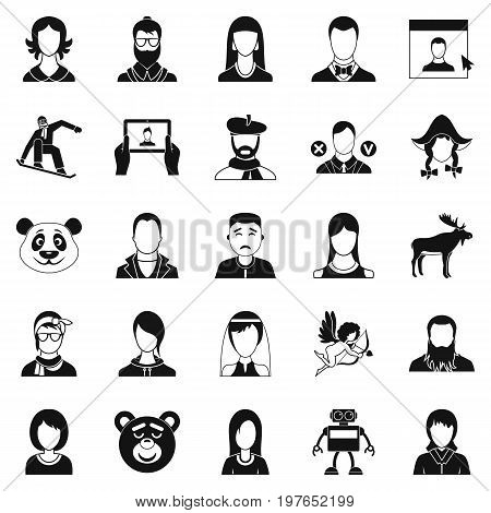 Nation icons set. Simple set of 25 nation vector icons for web isolated on white background