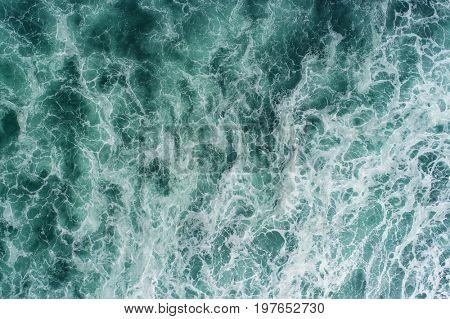 Aerial view of a magnificent ocean texture