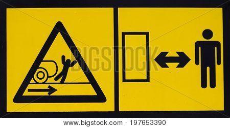 Vehicle Danger Warning Label 3