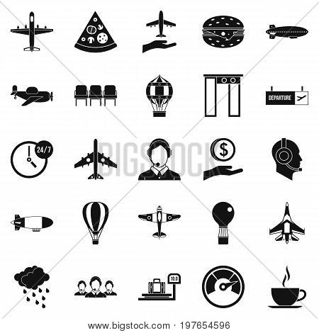 Vessel icons set. Simple set of 25 vessel vector icons for web isolated on white background