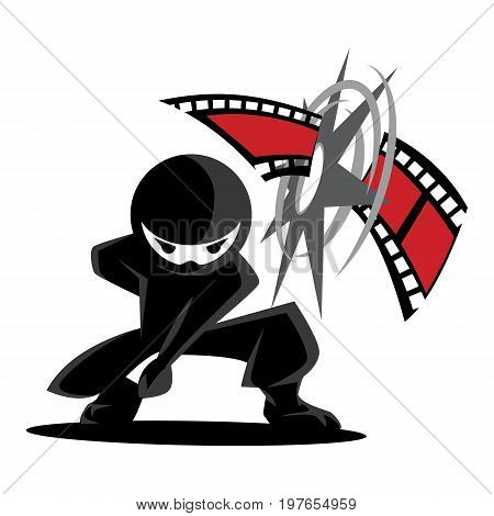 Ninja Samurai Warrior Fighter Character Cartoon Martial Art Weapon Film