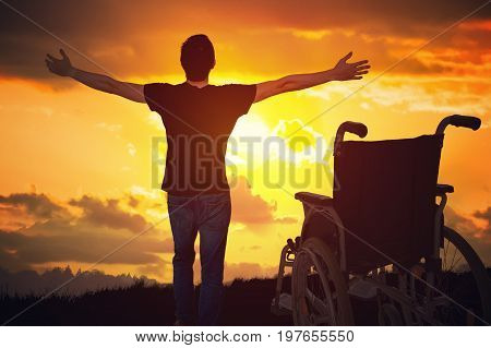 A Miracle Happened. Disabled Handicapped Man Is Healthy Again. H