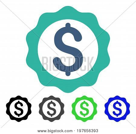Banking Seal Stamp flat vector pictogram. Colored banking seal stamp gray, black, blue, green icon variants. Flat icon style for application design.