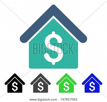 House Rent flat vector icon. Colored house rent gray, black, blue, green pictogram versions. Flat icon style for graphic design.