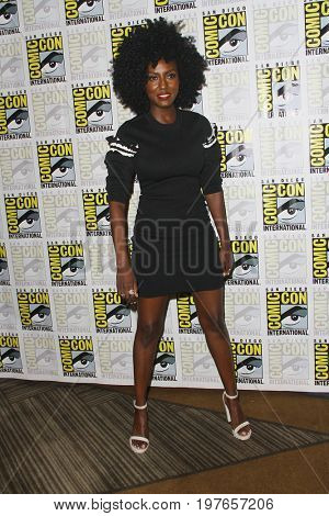SAN DIEGO - July 23:  Jade Eshete at Comic-Con Sunday 2017 at the Comic-Con International Convention on July 23, 2017 in San Diego, CA
