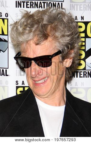 SAN DIEGO - July 23:  Peter Capaldi at Comic-Con Sunday 2017 at the Comic-Con International Convention on July 23, 2017 in San Diego, CA