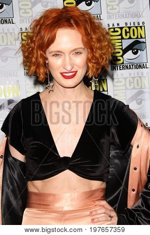 SAN DIEGO - July 23:  Breeda Wool at Comic-Con Sunday 2017 at the Comic-Con International Convention on July 23, 2017 in San Diego, CA