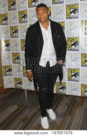 SAN DIEGO - July 22:  Franz Drameh at Comic-Con Saturday 2017 at the Comic-Con International Convention on July 22, 2017 in San Diego, CA