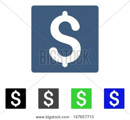 Finance flat vector pictogram. Colored finance gray, black, blue, green icon variants. Flat icon style for web design.