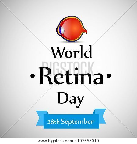 illustration of eye with World Retina Day 28th September text on the occasion of World Retina Day