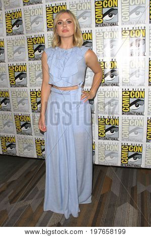SAN DIEGO - July 21:  Rose McIver at Comic-Con Friday 2017 at the Comic-Con International Convention on July 21, 2017 in San Diego, CA