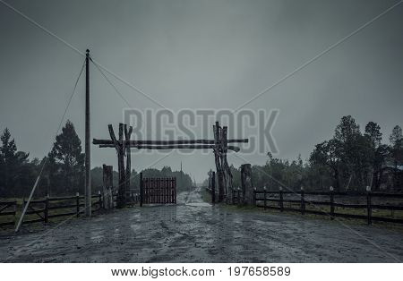 Countryside In Desperate Gray Shades