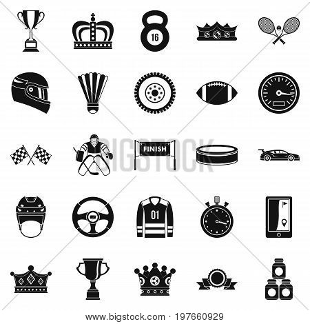 Purse icons set. Cartoon set of 25 purse vector icons for web isolated on white background