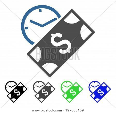 Rent Payment flat vector pictograph. Colored rent payment gray, black, blue, green pictogram variants. Flat icon style for web design.