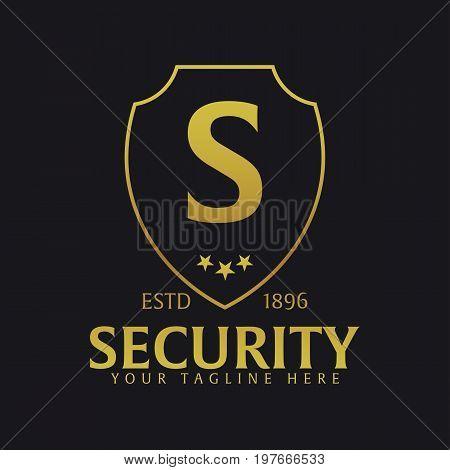 Shield Logo. Protection Company. Security. Guardian. Vector Illustration.