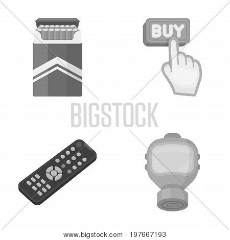 nicotine, technology and other  icon in cartoon style.purchases, weapons icons in set collection.