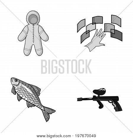 clothing, fishing and other  icon in cartoon style.technology, paintball icons in set collection.