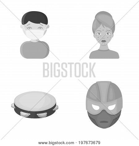 business, medicine, education and other  icon in monochrome style., mask, Superman, cinematography icons in set collection