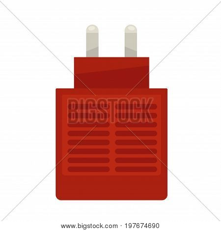 Vector illustration of red colored fumigator isolated on white.