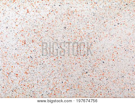 terrazzo flooring old texture or polished stone orange gravel background with copy space add text