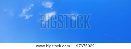 panoramic sky and cloud summer time beautiful background with copy space add text