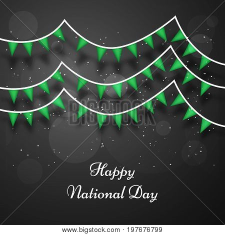 illustration of decoration with Happy National Day text on the occasion of Saudi Arabia National Day