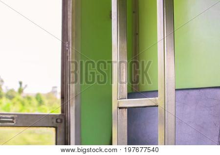 stair chrome of sleeper train internal .