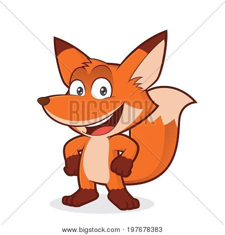 Clipart picture of a fox cartoon character with hand on hip