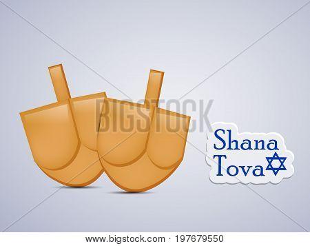 illustration of shana tova text on the occasion of Jewish New Year Shanah Tovah Translation: a good year