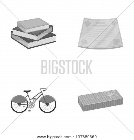 document, power of attorney and other  icon in monochrome style., business, trade, cinematography, icons in set collection.