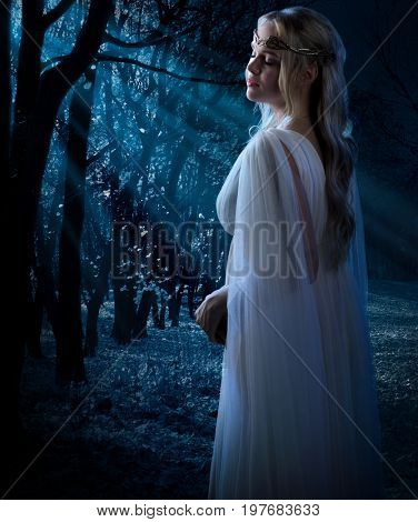 Elven girl in the forest