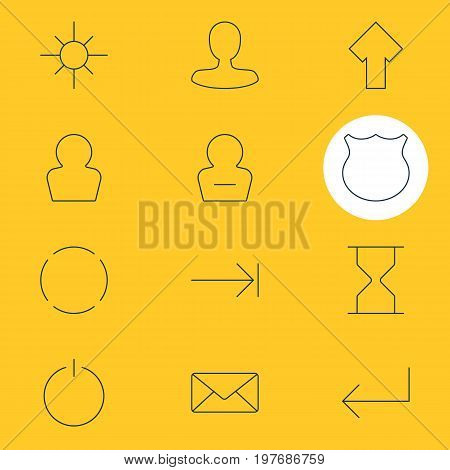 Editable Pack Of Repeat, Tabulation Button, Switch Off And Other Elements.  Vector Illustration Of 12 User Icons.