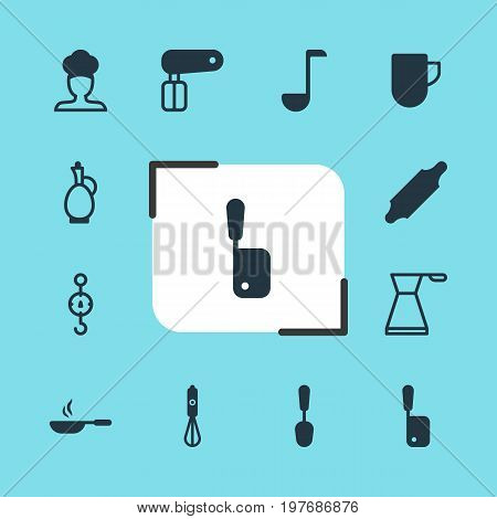 Editable Pack Of Steelyard, Soup Spoon, Tea Cup And Other Elements.  Vector Illustration Of 12 Restaurant Icons.