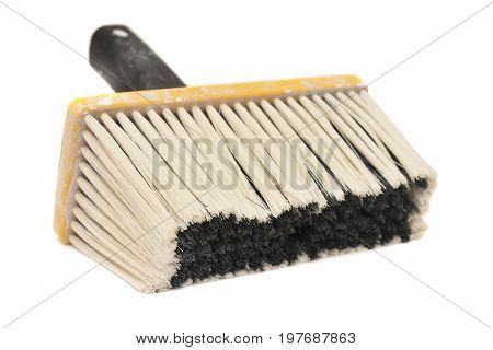 whitewashing brush isolated on a white background