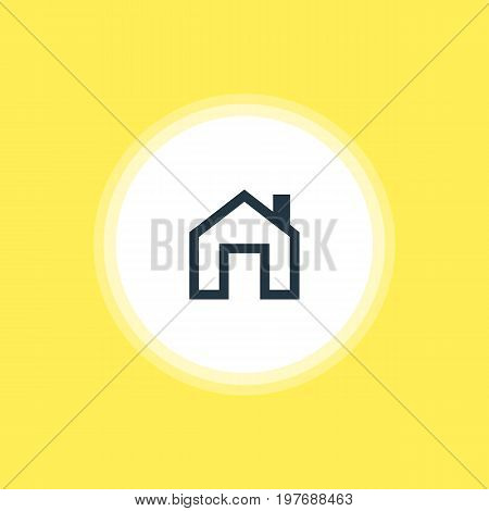 Beautiful Member Element Also Can Be Used As Mainpage Element.  Vector Illustration Of Homepage Icon.