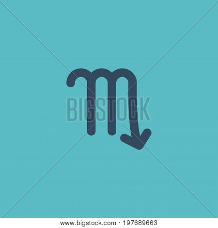 Flat Icon Scorpion Element. Vector Illustration Of Flat Icon Zodiac Sign Isolated On Clean Background