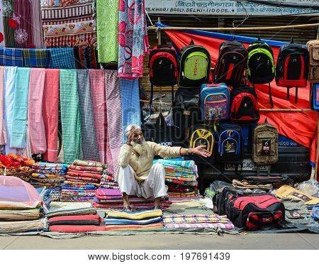 Street Market In Old Delhi, India