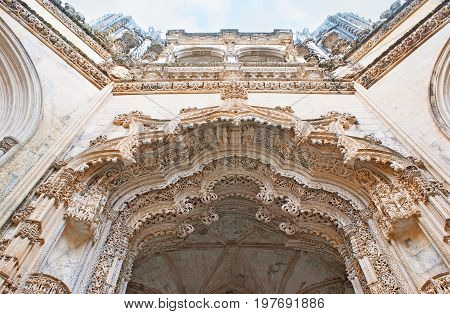 Fine Patterns Of Unfinished Chapel In Batalha Convent